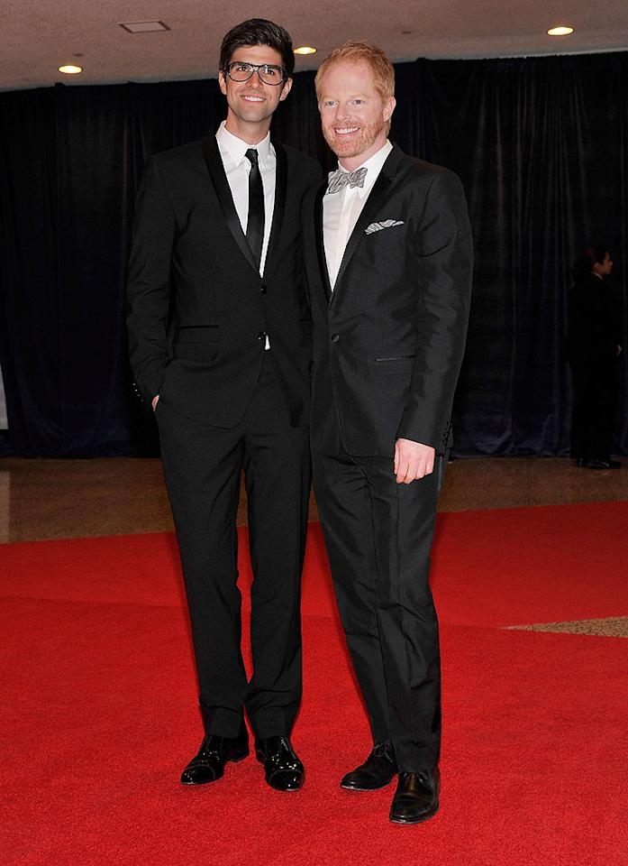 "Also at the ABC News/Yahoo! News table was Jesse Tyler Ferguson and his boyfriend, Justin Mikita, who mixed up their looks – the ""Modern Family"" actor opted for a bow tie, while his beau sported a simple black tie."