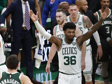 NBA fines Boston Celtics' Marcus Smart $15,000 for criticising referees during team's win over Charlotte Hornets