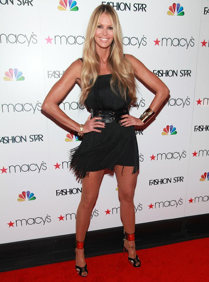 """Elle Macpherson attends the """"<a target=""""_blank"""" href=""""http://tv.yahoo.com/fashion-star/show/47285"""">Fashion Star</a>"""" celebration at Macy's Herald Square on March 13, 2012 in New York City."""