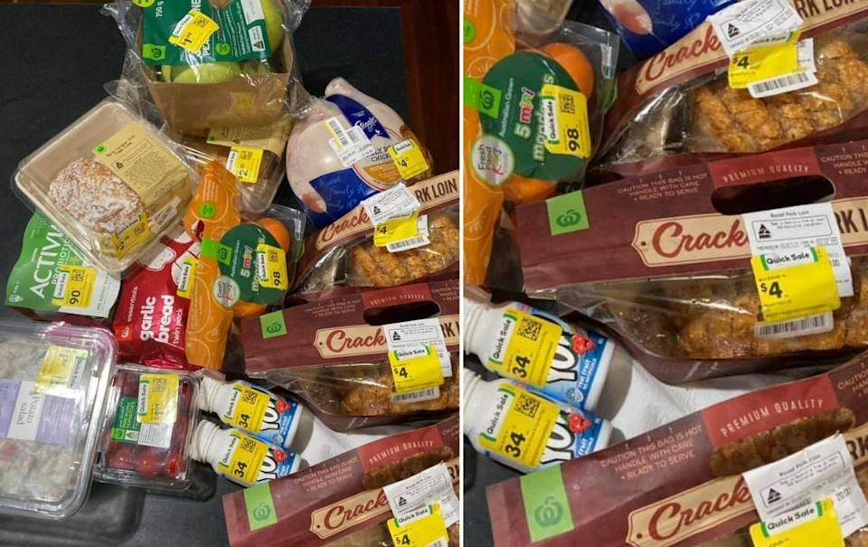 Woolworths items on sale. Source: Facebook