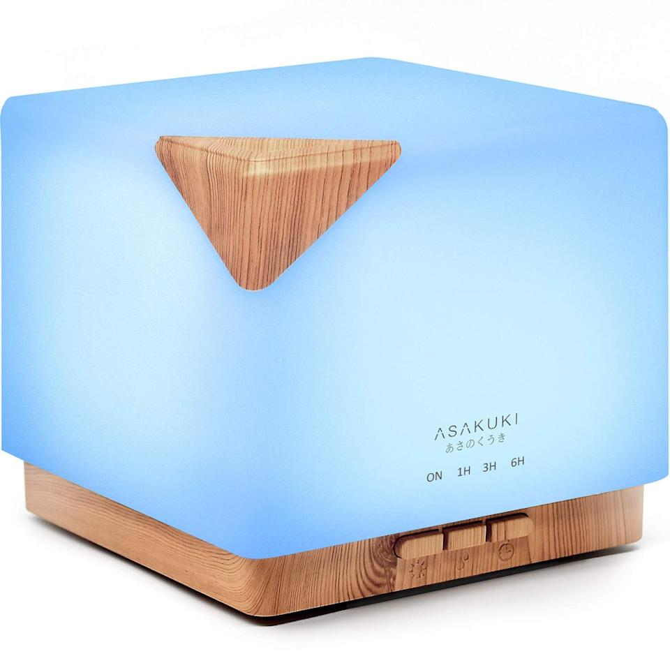 """<p>The most frequent complaint about essential oil diffusers is how small they are; most can only run for a few hours and fill a 200-square foot space with scent. Asakuki's Premium Essential Oil Diffuser changes all that with a 700-milliliter tank that holds over twice as much water as most other models, making it capable of filling a living room or a yoga studio — or simply replacing your winter humidifier.</p> <p><strong>$28</strong> (<a href=""""https://www.amazon.com/ASAKUKI-Essential-Ultrasonic-Aromatherapy-Humidifier/dp/B073B31V3L?"""" rel=""""nofollow noopener"""" target=""""_blank"""" data-ylk=""""slk:Shop Now"""" class=""""link rapid-noclick-resp"""">Shop Now</a>)</p>"""