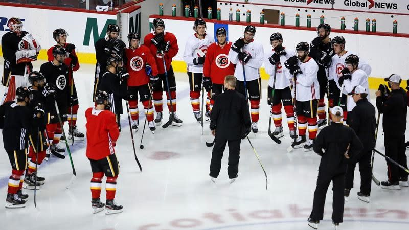 "Calgary Flames remove ""interim"" label, continue with head coach Geoff Ward"