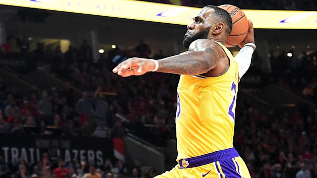 LeBron James' Los Angeles Lakers debut ended in defeat to the Portland Trail Blazers.