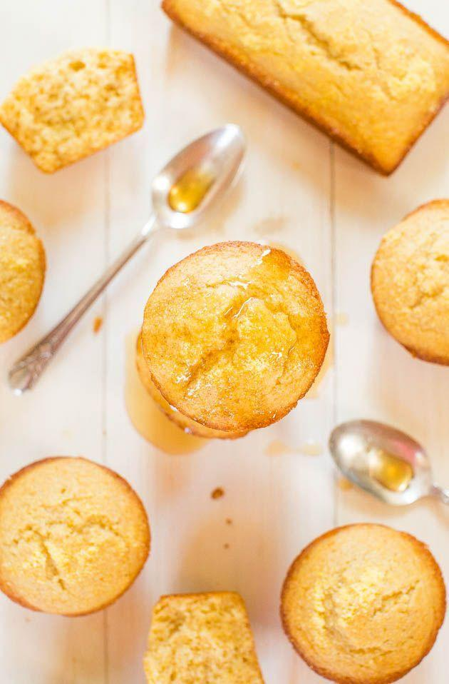 "<p>...and then put even more honey on top.</p><p>Get the recipe from <a href=""http://www.averiecooks.com/2014/08/honey-cornbread-muffins.html"" rel=""nofollow noopener"" target=""_blank"" data-ylk=""slk:Averie Cooks"" class=""link rapid-noclick-resp"">Averie Cooks</a>.</p>"