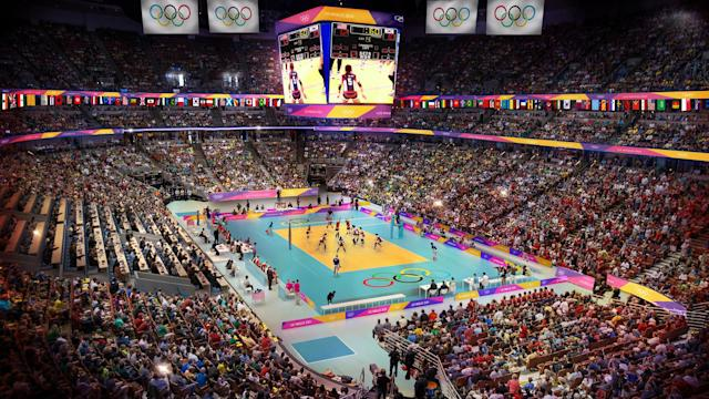 <p>Volleyball at the Honda Center. (Photo courtesy of LA2024) </p>