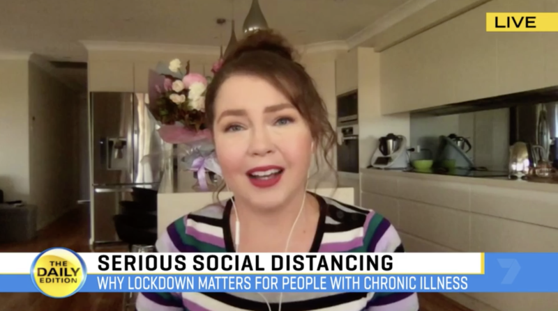 Lauren Rowe, an advocate who empowers those who live with a chronic illness, explains why social distancing matters. Source: The Daily Edition
