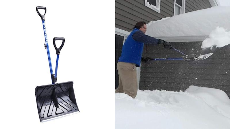This genius spring-assisted shovel may help reduce shoveling accidents.