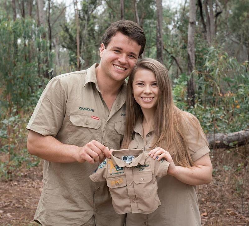 Bindi and Chandler first announced they were expecting last month. Photo: Instagram/BindiSueIrwin