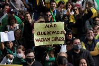 Protest against state governor Doria and China's Sinovac vaccine in Sao Paulo