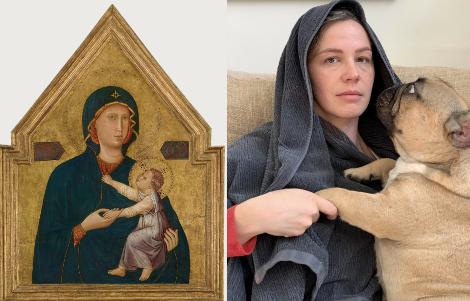 The Getty museum is challenging people to use objects at home to recreate works of art while self-quarantining. (Photo: Twitter/Getty)