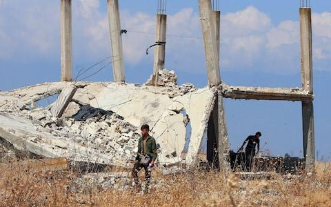 <span>After eight years of civil war, the Idlib region on the border with Turkey is the last major stronghold of opposition </span> <span>Credit: AFP </span>