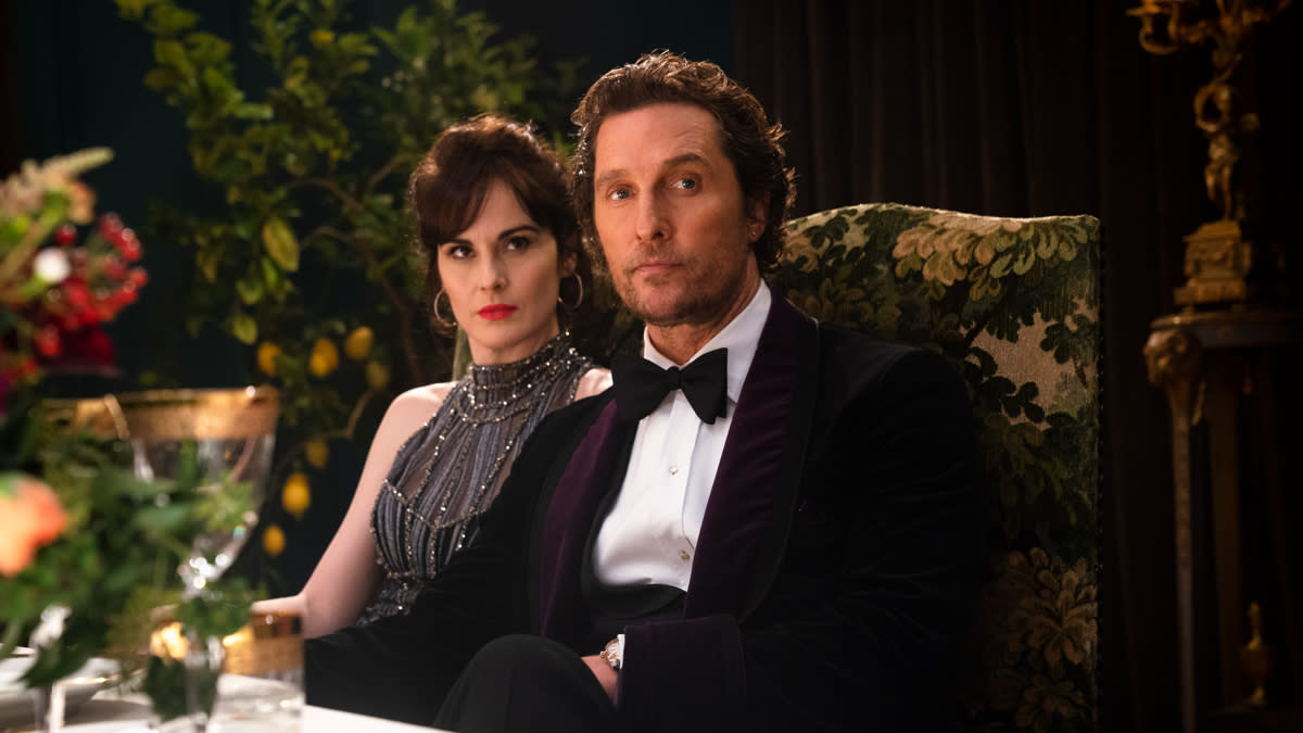 Michelle Dockery and Matthew McConaughey in 'The Gentlemen'. (Credit: EFD)