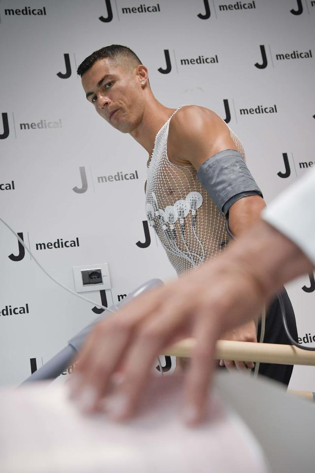 Ronaldo was put through his paces ahead of the high-profile move