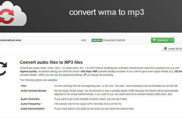 Here's how to convert a file from WMA to MP3
