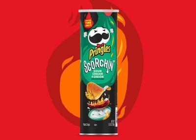 NEW PRINGLES® SCORCHIN' SOUR CREAM & ONION SATISTIFES SNACKERS' TANGY TEMPTATIONS WITH A KICK