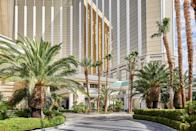 """<p><strong>How did it strike you on arrival?</strong><br> When you arrive in the little circle where the valet is, it feels impossible that this hotel could be in Vegas, and what's more, that it could be connected to <a href=""""https://www.cntraveler.com/hotels/las-vegas/mandalay-bay?mbid=synd_yahoo_rss"""" rel=""""nofollow noopener"""" target=""""_blank"""" data-ylk=""""slk:Mandalay Bay"""" class=""""link rapid-noclick-resp"""">Mandalay Bay</a>. It's a gaming-free sanctuary at the southernmost end of the Strip, and barely feels like it's connected to the action. And although it occupies floors 35 - 39 of Mandalay Bay, it has its own lobby, scene, restaurants—and best of all, serene pool scene and beautiful spa. Much like many Four Seasons hotels, you'll pull up into a porte cochere, all done in creamy beiges and whites, and immediately be greeted by valets, bellmen, giving fast and attentive service.</p> <p><strong>What's the crowd like?</strong><br> Most of these travelers are Four Seasons devotees. They love the consistency of the experience and are attracted to the strength of the brand.</p> <p><strong>The good stuff: Tell us about your room.</strong><br> Just a few years ago, Four Seasons completely renovated its rooms, and what were very lovely but kind of standard cream-colored Four Seasons rooms became classic Art Deco-inspired rooms with a sophisticated color scheme (I checked into a one-bedroom suite with a view west toward the mountains and desert (you can opt for one with a view of the Strip.) Neutrals, chrome and reflective surfaces with silvery blue/grey fabrics made my room feel super-lush. And in a town where nothing's for free, little extras like a coffee maker in the room are so nice! The rooms, incidentally, are enormous. The smallest is 800 square feet and the one-bedroom is 1,100.</p> <p><strong>We're craving some deep, restorative sleep. They got us?</strong><br> My bed was lovely and high, with down pillows and a down duvet. I'm not a fan of a too-soft pillow, so I called"""