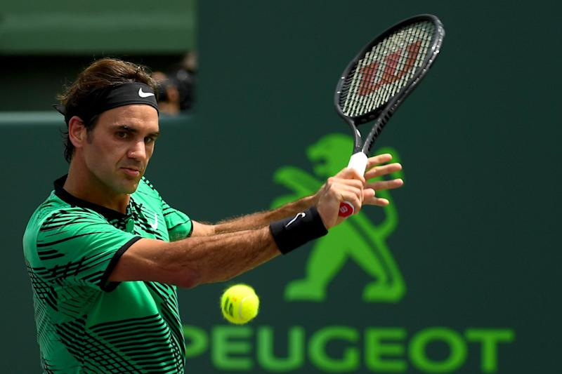 Third crown: Federer has already won three titles in 2017: Getty Images