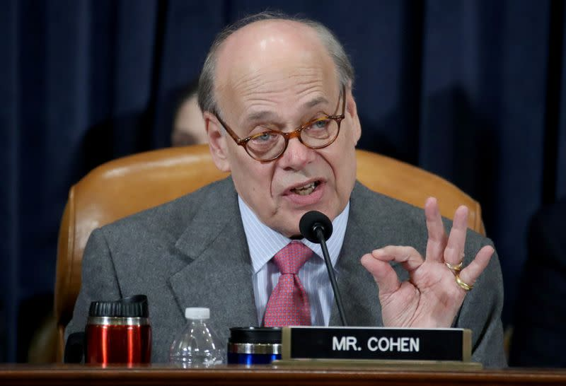 Rep. Steve Cohen (D-TN) questions constitutional scholars during testimony before the House Judiciary Committee hearing on the impeachment Inquiry into U.S. President Donald Trump on Capitol Hill in Washington