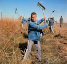 <p>Dare we call this look prison chic? Paul Newman's prisoner uniform makes for a memorable onscreen denim moment. The actor wore a chambray shirt underneath an oversized jean jacket in <em>Cool Hand Luke</em>. </p>