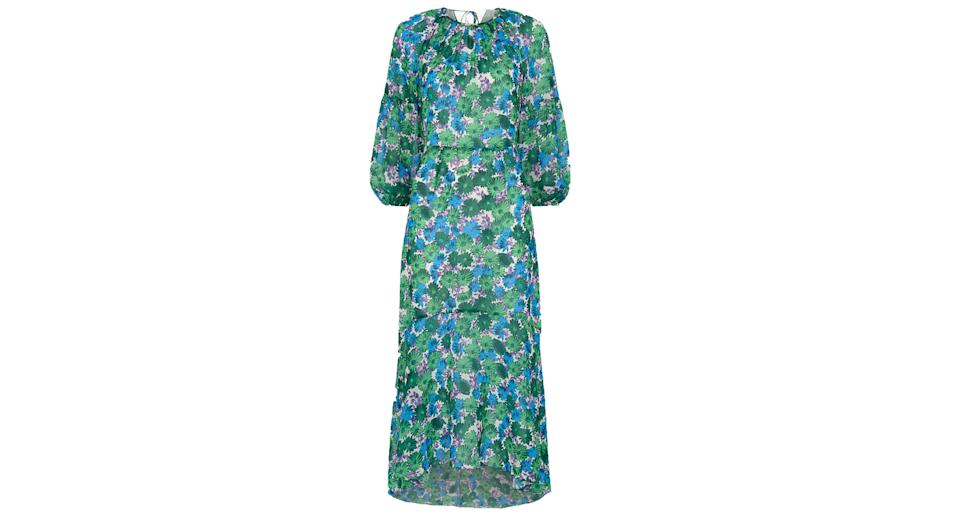 """If you're brave enough to buy your mum clothes, may we suggest this gorgeous, printed Whistles dress. Perfect for festive parties, she's bound to love it. <a href=""""https://fave.co/2ZQd6qD"""" rel=""""nofollow noopener"""" target=""""_blank"""" data-ylk=""""slk:Shop now."""" class=""""link rapid-noclick-resp""""><strong>Shop now.</strong></a>"""