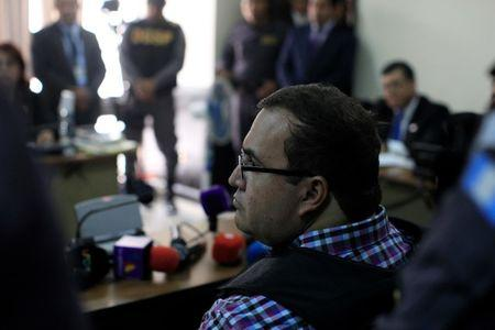 Javier Duarte, former governor of Mexican state Veracruz, appears in a court for extradition proceedings in Guatemala City, Guatemala, April 19, 2017. REUTERS/Jose Cabezas