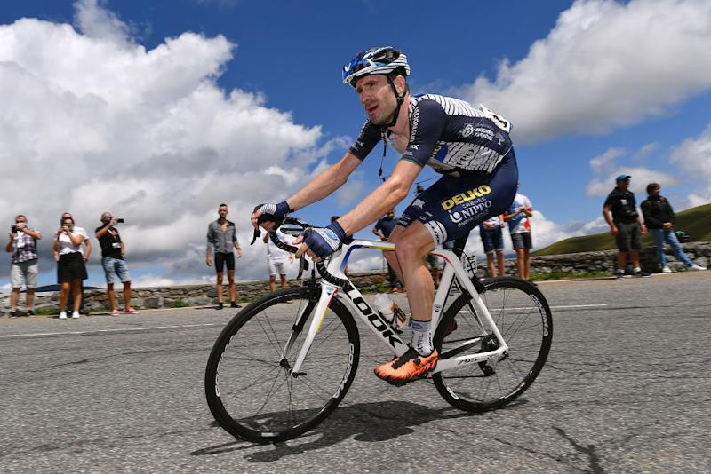 SARRANCOLIN FRANCE AUGUST 03 Jose Goncalves of Portugal and Team Nippo Delko Provence Public Fans during the 44th La Route dOccitanie La Depeche du Midi 2020 Stage 3 a 1635km stage from Saint Gaudens to Col de Beyrde 1417m RouteOccitanie RDO2020 on August 03 2020 in Sarrancolin France Photo by Justin SetterfieldGetty Images