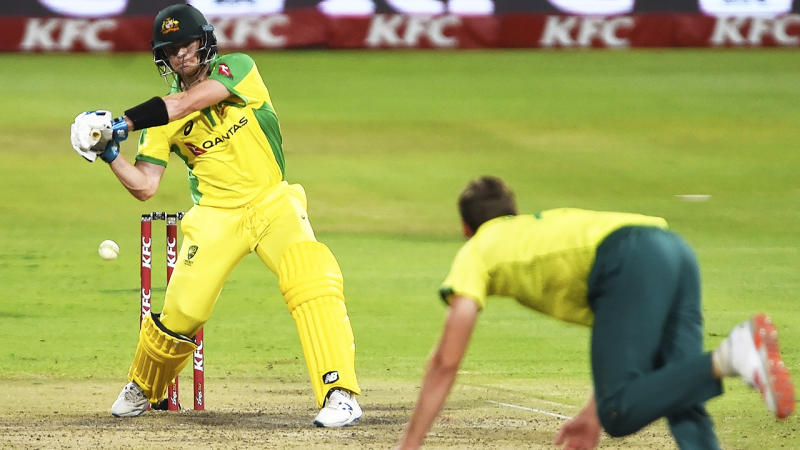 Steve Smith, pictured here in action during the third T20 against South Africa.