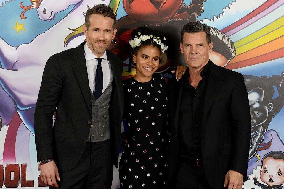 Ryan Reynolds, Zazie Beetz, and Josh Brolin attend a Deadpool 2 fan screening (20th Century Fox)