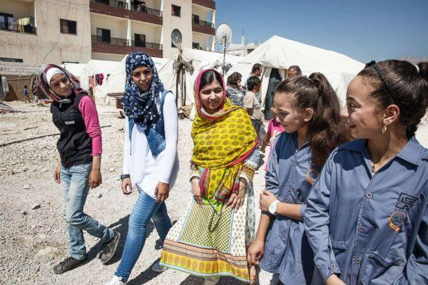 PHOTO:On her 18th birthday in July 2015, Malala Yousafzai opened a school for Syrian refugee girls living in an informal camp in Bekaa Valley, Lebanon. (Malin Fezehai / Malala Fund)
