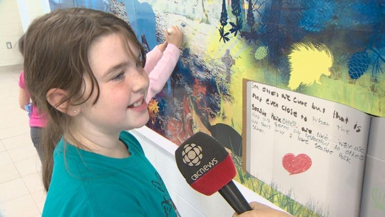 Interactive mural at Saint John school encourages students to make their mark