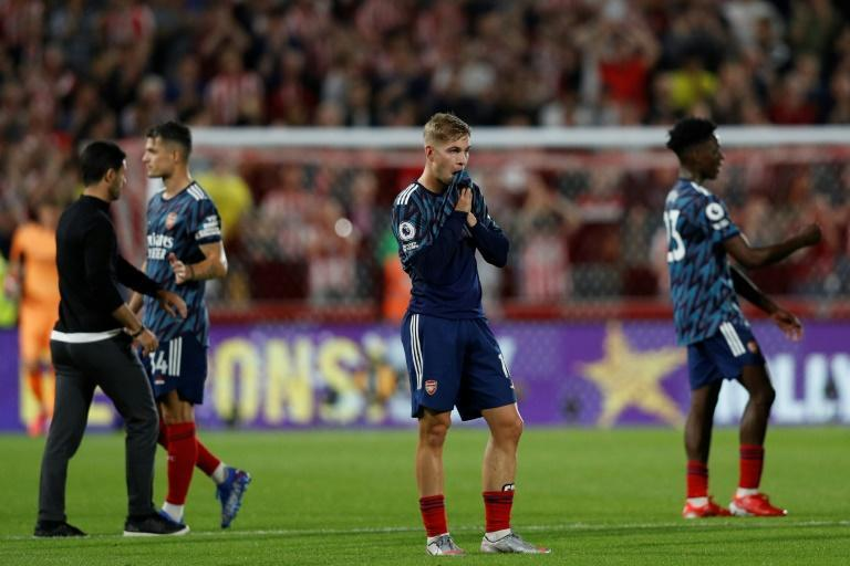 Arsenal lost their opening Premier League match 2-0 at newly-promoted Brentford