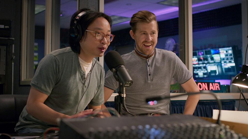 """Jimmy O. Yang (left) and Alex Moffat star as standup comedians in """"The Opening Act."""""""