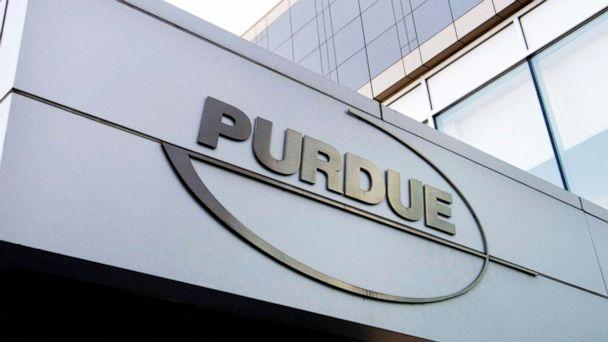 PHOTO: The Purdue Pharma logo at its offices in Stamford, Conn., May 8, 2007. (Douglas Healey/AP, FILE)