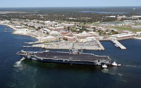 The aircraft carrier USS John F. Kennedy arrives for exercises at Naval Air Station Pensacola - Credit: US NAVY via Reuters