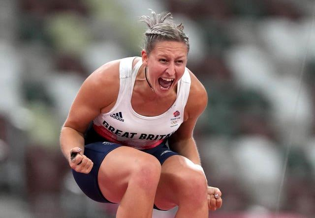 Great Britain's Holly Bradshaw secured a bronze in the women's pole vault