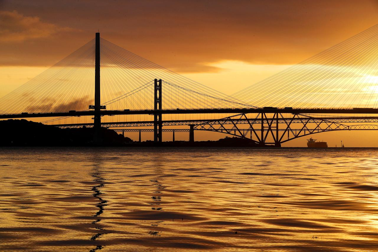 <p>The crossing cost £1.3 billion and will replace Forth Road Bridge as the main crossing between Edinburgh and Fife. (PA) </p>