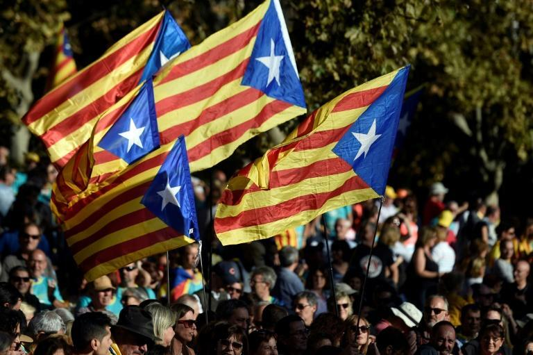 Catalonia has been gripped by unrest since the controversial Supreme Court verdict on October 14 which unleashed a wave of huge demonstrations (AFP Photo/Josep LAGO)