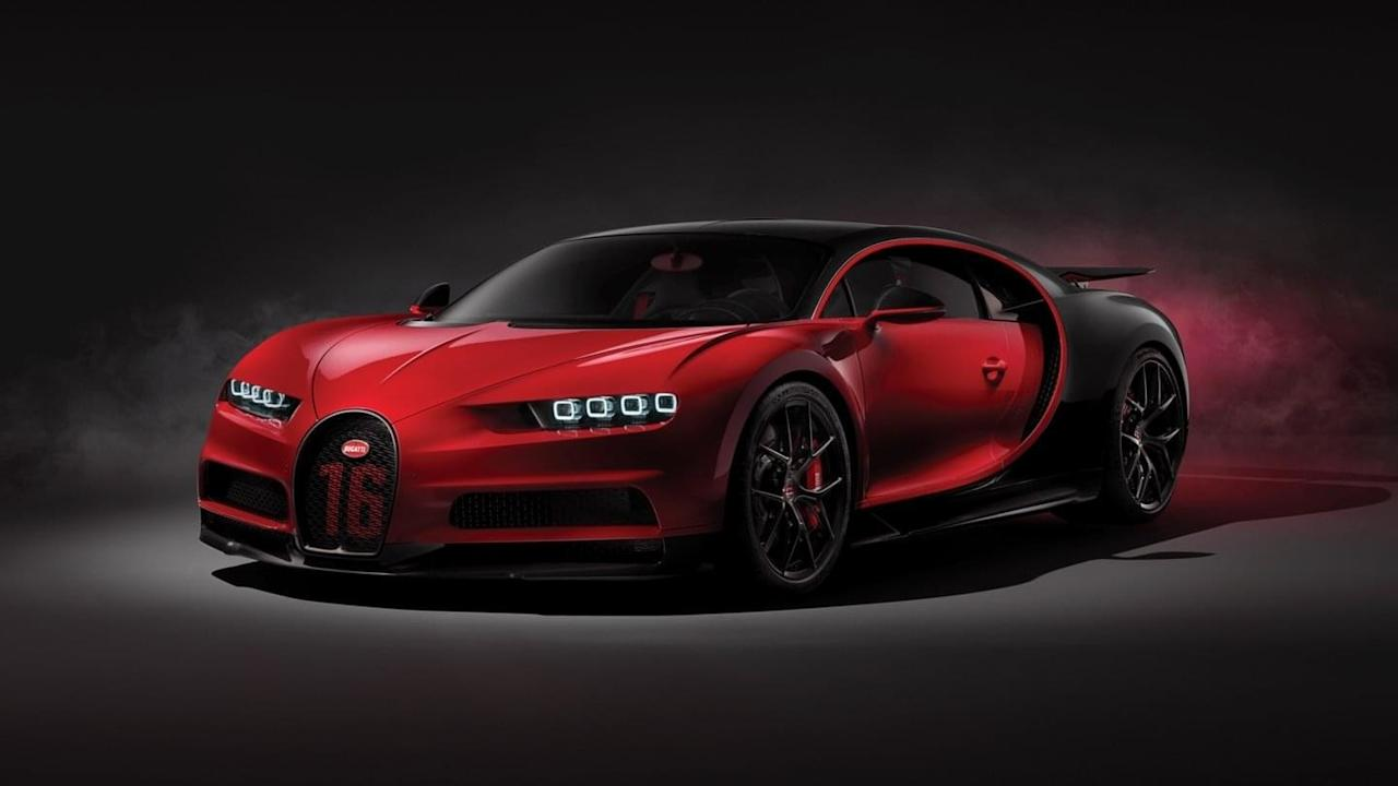 """Though it has the same omnipotent 16-cylinder 1500-horsepower engine as the """"normal"""" Chiron, this new $3.26 million model has sharper suspension tuning, which translates to better handling. It is also the first car with carbon fiber windshield wipers. I suppose when you're driving that fast in the rain, you will need carbon fiber windshield wipers to maintain a clear view. . . ."""