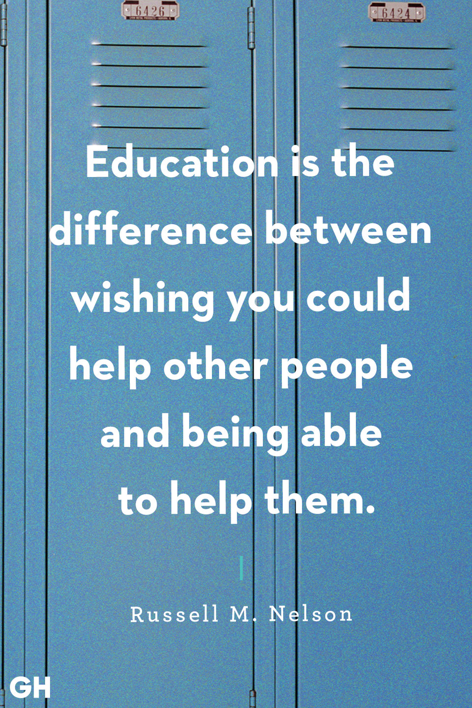 <p>Education is the difference between wishing you could help other people and being able to help them.</p>