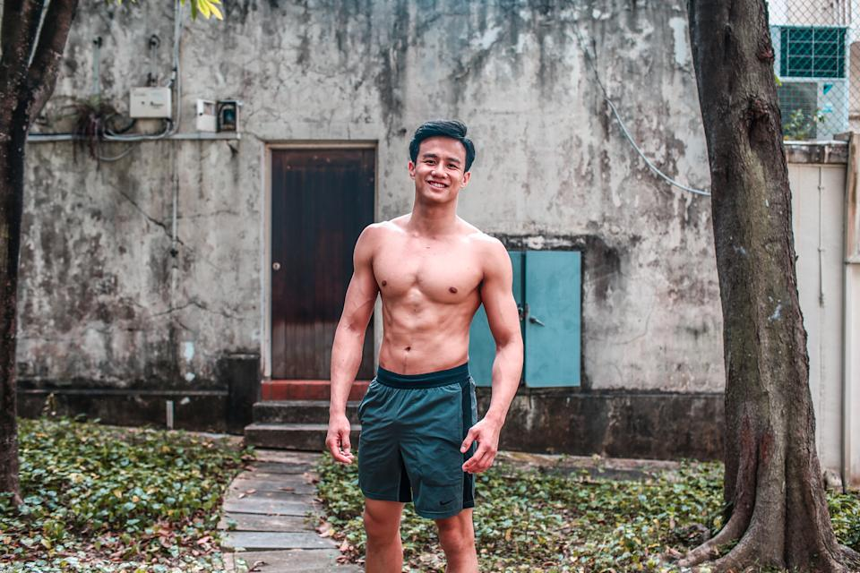 Ky had battled with pressure and self-doubt when he first took on the dual careers of being an actor and a fitness coach in 2019