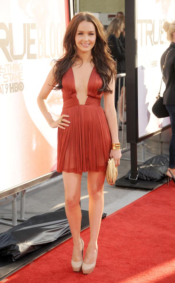 """Camilla Luddington attends HBO's """"True Blood"""" Season 5 Los Angeles premiere at ArcLight Cinemas Cinerama Dome on May 30, 2012 in Hollywood, California."""