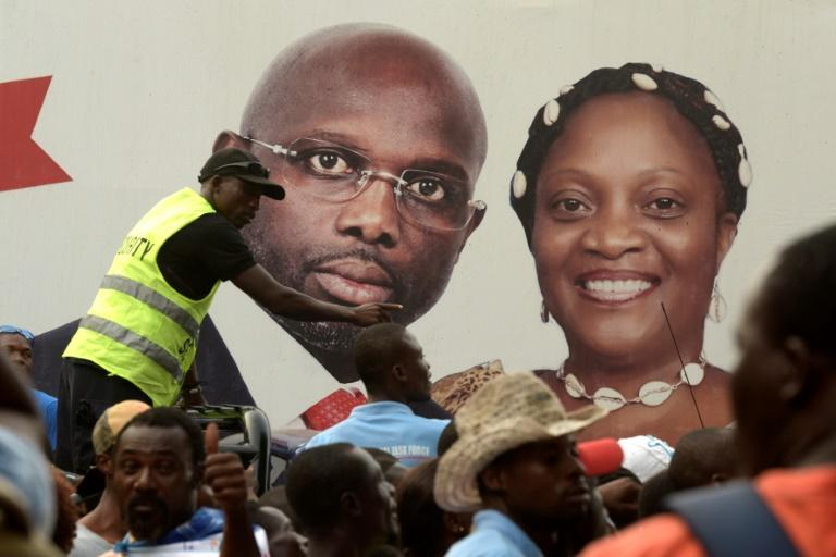 A victory speech for Liberian president-elect George Weah was postponed after crowds of energetic supporters gathered around a podium for his address grew too boisterous, an AFP correspondent said