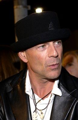 """Premiere: <a href=""""/movie/contributor/1800018749"""">Bruce Willis</a> at the LA premiere of Columbia's <a href=""""/movie/1808405048/info"""">Tears of the Sun</a> - 3/3/2003<br>Photo: <a href=""""http://www.wireimage.com"""">Lester Cohen, Wireimage.com</a>"""
