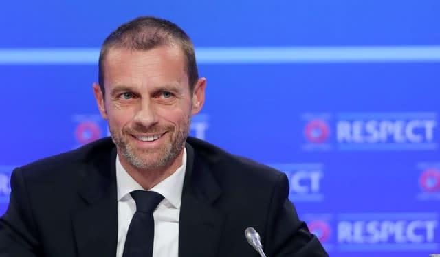 Aleksander Ceferin hopes fans might be able to attend the final stages of the Champions League (Niall Carson/PA).