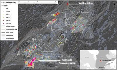 Figure 3. Map of the Frotet Project (CNW Group/Kenorland Minerals Ltd.)