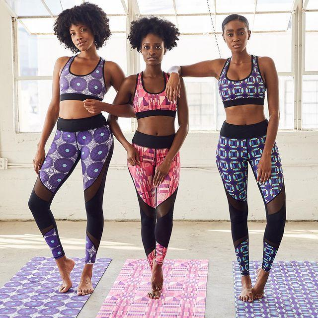 """<p>Fans of brightly colored activewear will love CultureFit's West African–print designs. Plus, they're all made from a water-wicking material that won't pill or tear. </p><p><a href=""""https://www.instagram.com/p/CFXc1-GlhHG/"""" rel=""""nofollow noopener"""" target=""""_blank"""" data-ylk=""""slk:See the original post on Instagram"""" class=""""link rapid-noclick-resp"""">See the original post on Instagram</a></p>"""