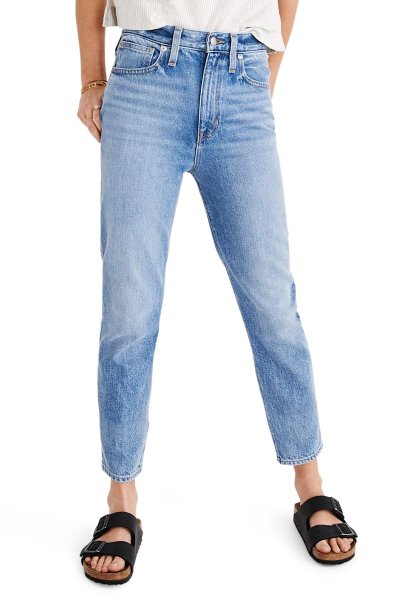 Madewell The Momjean High Waist Jeans. Image via Nordstrom.