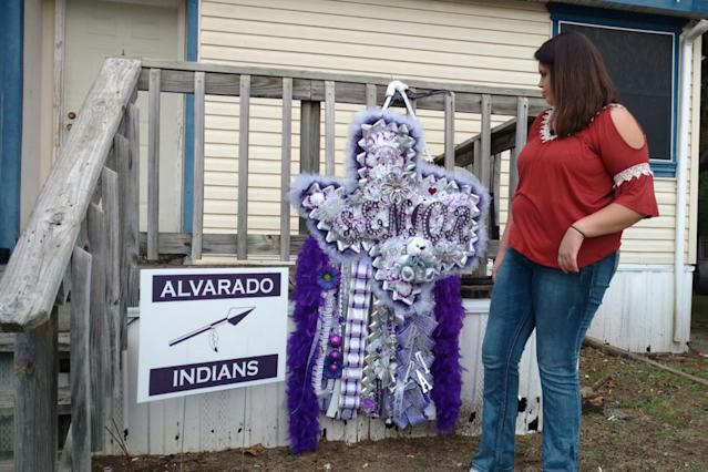 Students celebrating homecoming in Texas are creating the craziest mums, aka giant corsages. (Photo: Todd Unger via Twitter)