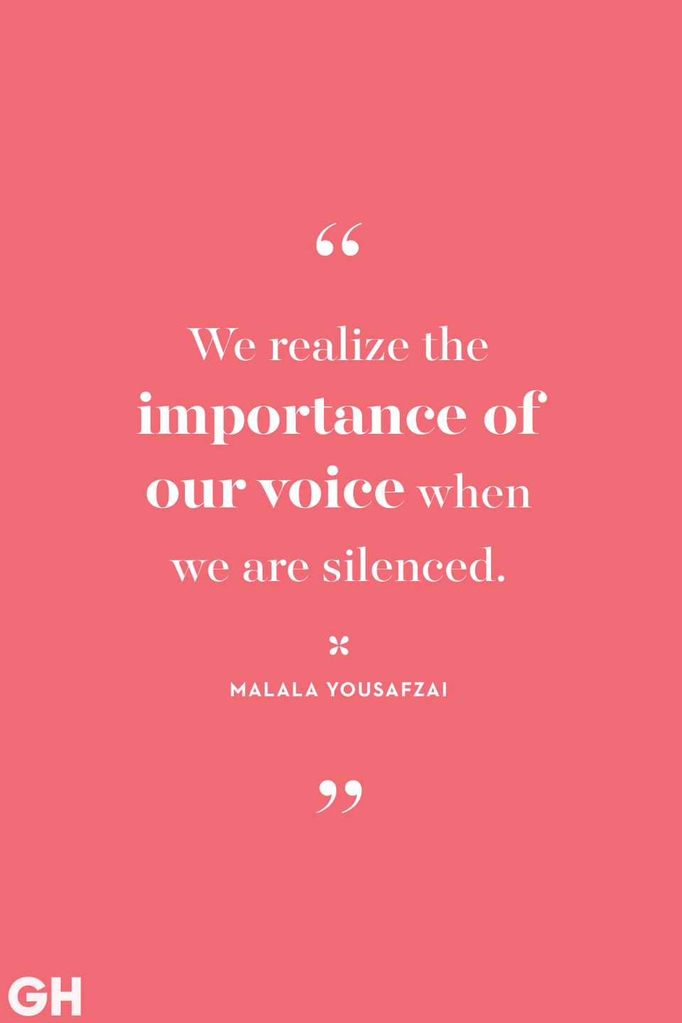<p>We realize the importance of our voice when we are silenced.</p>