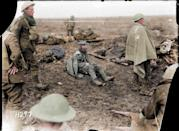<p>French soldiers at the Battle of Verdun in 1916 (Royston Leonard / Media Drum World / Caters News) </p>